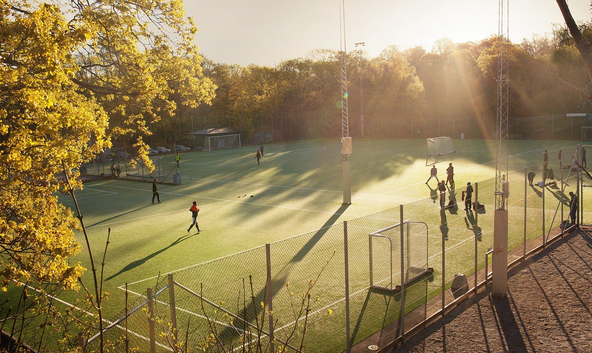 Morgonmatch i Tantolunden